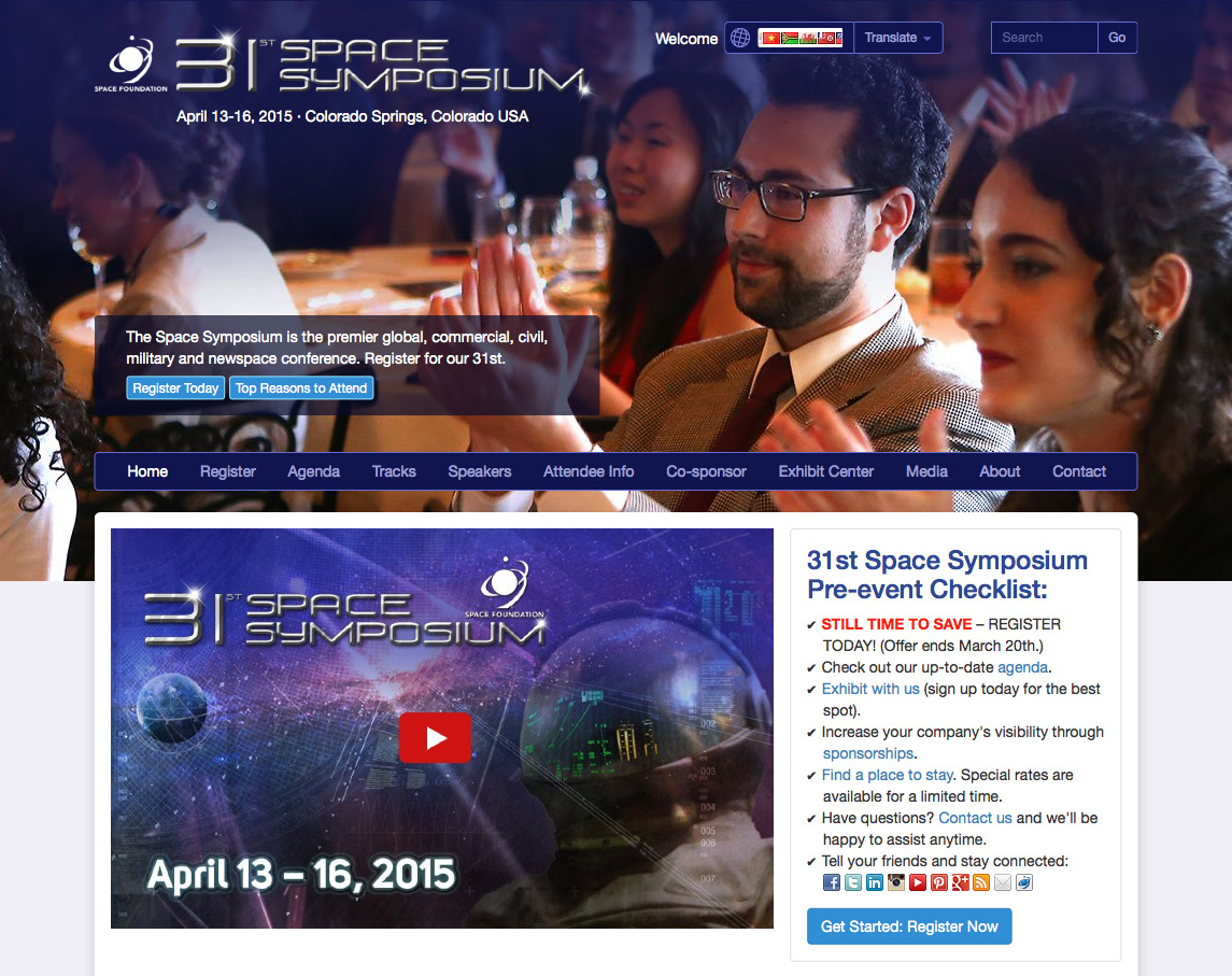 31st Space Symposium website