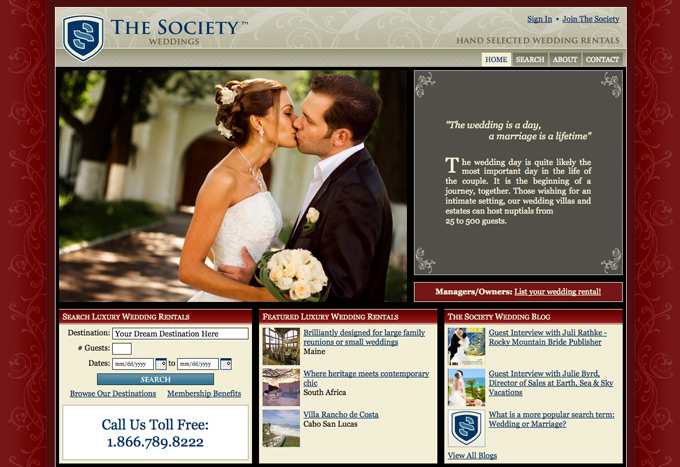 The Society of Leisure Enthusiasts wedding portal