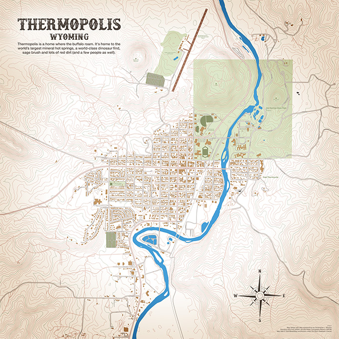 Thermopolis, Wyoming Map